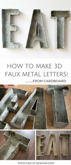 This tutorial shows you how to make dimensional letters with scrap cardboard. This tutorial is easy to follow but does require some 2nd grade paper mache skills. Personally I don't have the p…