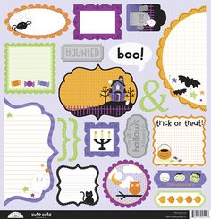Doodlebug Design - Spooky Town Collection - Halloween - Cute Cuts - 12 x 12 Cardstock Die Cuts at Scrapbook.com $1.99