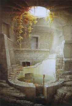 Eerie and beautiful. That there are such places in the world is a wondrous thing, indeed: abandoned pool/spa Abandoned Buildings, Abandoned Mansions, Old Buildings, Abandoned Places, Abandoned Castles, Haunted Places, Beautiful Buildings, Beautiful Places, Beautiful Ruins