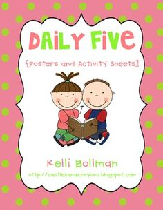 I HEART The Daily Five! :)This free download is full of Daily Five fun and includes:  ~ 1 (8 1/2 x 11) poster for each of the following:Rea...