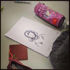 Première étape : le dessin. #ecolemoselly