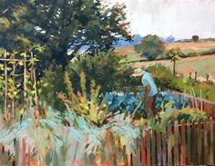 """Daily Paintworks - """"The gardener"""" by Haidee-Jo Summers"""