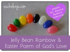 Jelly Bean Rainbow and Easter Poem of God's Love