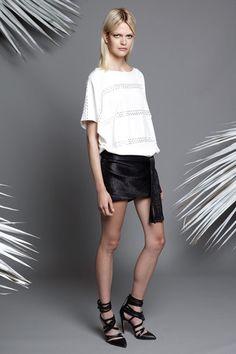 """Kick"" skirt Jay Ahr Resort 2015 Collection Slideshow on Style.com"