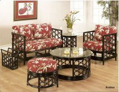 Avalon Rattan Furniture   Kozy Kingdom. Love Seat And Chair..love. Paint  And Recover Cushions.