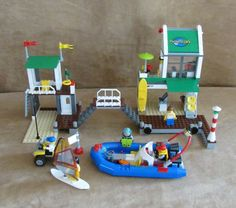 4644 Lego Marina Complete City town sail minifig boat dock ship #LEGO