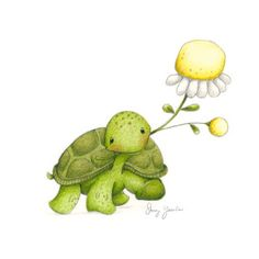 stacey yacula studio: Joyful Garden from Enesco Tortoise Drawing, Tortoise Tattoo, Baby Sea Turtles, Cute Turtles, Cute Drawings, Animal Drawings, Cute Turtle Drawings, Tatty Teddy, Turtle Quotes