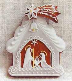 Today we are looking at Moravian and Bohemian gingerbread designs from the Czech Republic. Back home, gingerbread is eaten year round and beautifully decorated cookies are given on all occasions. Fancy Cookies, Cute Cookies, Cupcake Cookies, Christmas Gingerbread House, Christmas Nativity, Gingerbread Houses, Gingerbread Decorations, Gingerbread Cookies, Christmas Sugar Cookies
