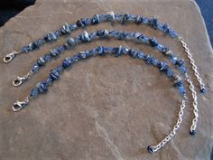 Lapis Lazuli Semi Precious gemstone Third Eye chakra healing energy bracelet