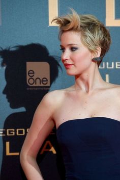 Jennifer Lawrence at The Hunger Games: Catching Fire Premiere in Madrid, November 2013.