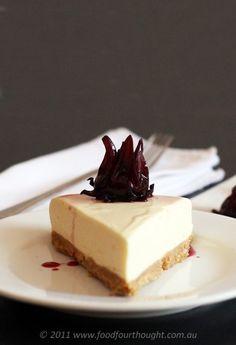 Hibiscus cheesecake