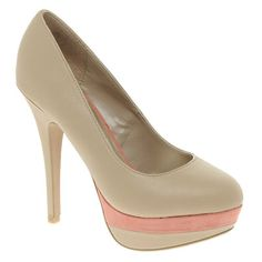 New Look Pest Colorblock Platform Heels - Perfection with every step and only $43!