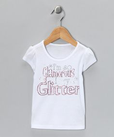 Take a look at this White 'I Cry Glitter' Tee - Infant, Toddler & Girls by Divas and Pearls on #zulily today!