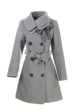 Amazon.com: LANHUACAO Women Wool Blends Coat Slim Trench Winter Coat Long Jacket Outwear: Clothing
