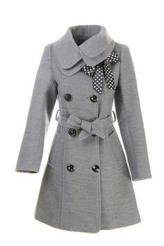 Amazon.com: LANHUACAO Women Wool Blends Coat Slim Trench Winter Coat Long Jacket Outwear: Clothing