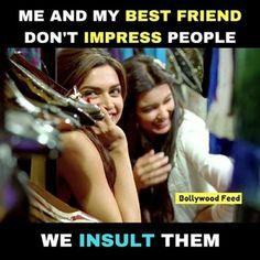 Kãrísh✨ Besties Quotes, Best Friend Quotes Funny, Cute Funny Quotes, Really Funny Memes, Funny Facts, Crazy Funny, Friend Jokes, Crazy Girl Quotes, Real Life Quotes