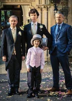 <3 WEDDINGLOCK:) And Papa Lestrade!!!