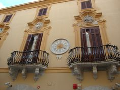 One of the many beautiful buildings in Trapani, Sicily www.tuscanytennis.com