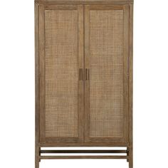Blake Grey Wash Two-Door Cabinet  | Crate and Barrel