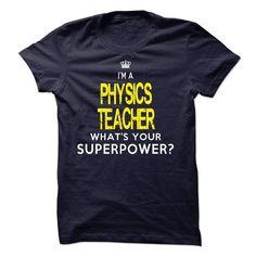 PHYSICS TEACHER - #monogrammed gift #love gift. LOWEST SHIPPING => https://www.sunfrog.com/No-Category/PHYSICS-TEACHER-59088036-Guys.html?68278