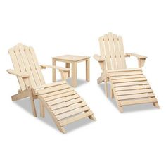 Adirondack Chairs & Side Table 5 Piece Set - Natural Ever since the modern Adirondack Chair makes its first commercial appearance in it has been a popular choice for chilling and relaxing in the backyard, deck patio or even front . Outdoor Wicker Furniture, Outdoor Dining Chairs, Deck Chairs, Outdoor Decor, Wood Adirondack Chairs, Chair Side Table, Chairs For Sale, Chair And Ottoman, Australia