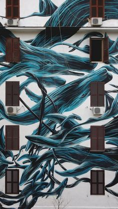 Stunning Dark-Inked Animals Murals by Pantonio