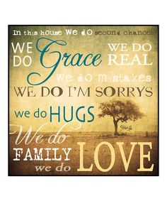 Look what I found on #zulily! 'In This House We Do' Wall Art #zulilyfinds