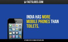 India has more mobile phones than toilets.