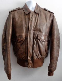 SCHOTT NYC MEDUIM BROWN A-2 BOMBER JACKET SIZE 40 $250.00 #Leather #Bomber #Jacket #BomberJacket #A2jacket #B3jacket #B2jacket #AviatorJacket At Eagle Ages We Love Bomber Jackets. You can find a great choice of Vintage & Second hands Bomber Jackets in our store. eagleages.com/.