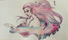 #draw  #aquarela #fairyart   #cordulia #line #fineline #organic #plants #fae #faery #mushroom