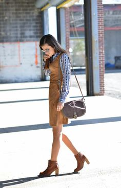 Ride Away | #DestinationOasis | western outfit influence, western wear, suede dress, printed blouse, spring fashion, spring outfit ideas, winter fashion, winter outfit ideas, nyc street style, Fashion Blogger #ToBeBright