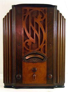 Home Decoration Online Shopping Art Deco Decor, Art Deco Design, Tvs, Televisions, Vintage Design, Vintage Wood, Vintage Fans, Art Nouveau Furniture, Retro Radios