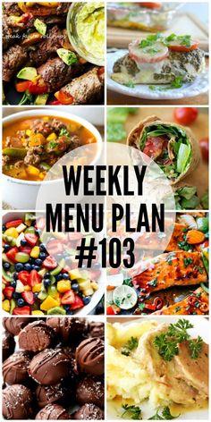 Weekly Menu Plan #103 - Cafe Delites