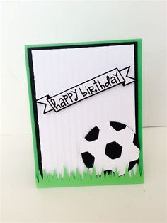 soccer birthday card for boys handmade cards and embellishments by