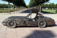 Mercedes super car from scrap