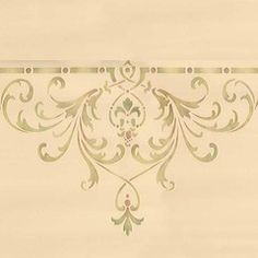 Decorate and emphasize areas of a grand ceiling above the dining room, living room, or entry way with our Hampton Center Ceiling Stencils. Use the Hampton Ceiling Stencil Set for a complete and cohesi