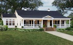 Style At Home, Triple Wide Mobile Homes, Farmhouse Floor Plans, Farmhouse Shutters, Rustic Shutters, Diy Shutters, Farmhouse Style, Texas Farmhouse, Exterior Shutters