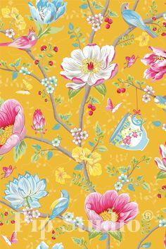 PiP Chinese Garden Geel behang