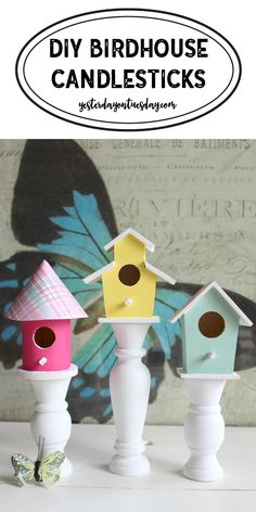 Birdhouse Candlestic