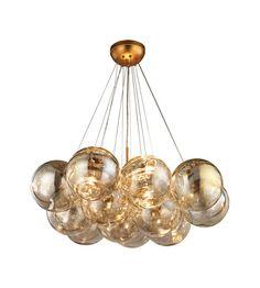 Dimond Lighting 1140-010 Cielo 3 Light 33 inch Antique Gold Leaf Chandelier Ceiling Light photo