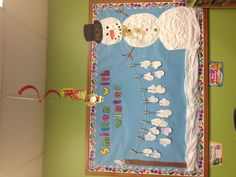 My winter bulletin board. Marcia and I came up with!
