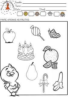 Meus Trabalhos Pedagógicos ®: Atividades galinha pintadinha - Alimentação saudável