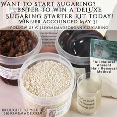 Ready to wear that swimsuit for summer? Enter to Win a FREE Sugaring Deluxe Starter Kit from JBHomemade here: http://ift.tt/1SZShNk  Your skin will be healthy smooth and the sexiest you've ever felt! 3 Winners will be chosen on 05/31/2016 to WIN a FREE DELUXE Sugaring Paste Starter Kit from JBHomemade!  Enter here: http://ift.tt/1SZShNk  Indulge in all natural sugaring hair removal! Finally feel as smooth as a petal without the inherent trauma your skin goes through from chemicals shaving…