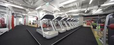 Cardio training facility with architectural lighting via trunking system