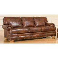 $993.99 Broyhill Brockton Leather Sofa