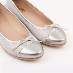 Bailarinas Textil Plata. Por solo 17,90€