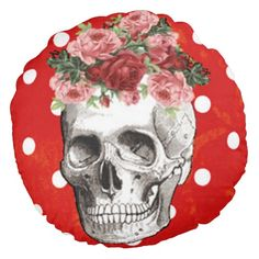 Browse our amazing and unique Skull wedding gifts today. The happy couple will cherish a sentimental gift from Zazzle. Skull Pillow, Skull Wedding, Floral Skull, Round Pillow, Sentimental Gifts, Wedding Gifts, Goth, Throw Pillows, Skulls