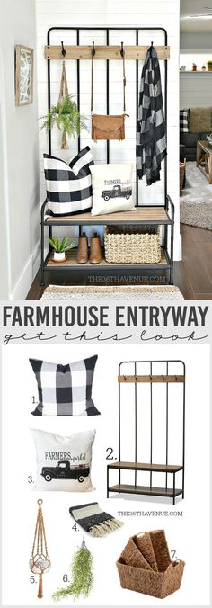 Farmhouse Entryway Decor Home Decor 2019 Beautiful and versatile Farmhouse Entryway Decor Ideas that are affordable and easy to put together. The post Farmhouse Entryway Decor Home Decor 2019 appeared first on Entryway Diy. Foyer Decorating, Interior Decorating, Interior Design, Decorating Ideas, Hall Interior, Apartment Entryway, Entryway Decor, Entryway Ideas, Entryway Stairs