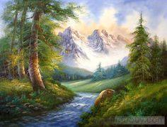 Landscape Oil Paintings   Classic Mountain Landscape oil painting : Tidebuy.com