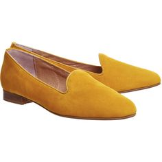 Office Dotty Slipper Cut Loafers (215 PLN) ❤ liked on Polyvore featuring shoes, loafers, mustard shoes, polka dot shoes, office loafers, office footwear and nubuck leather shoes